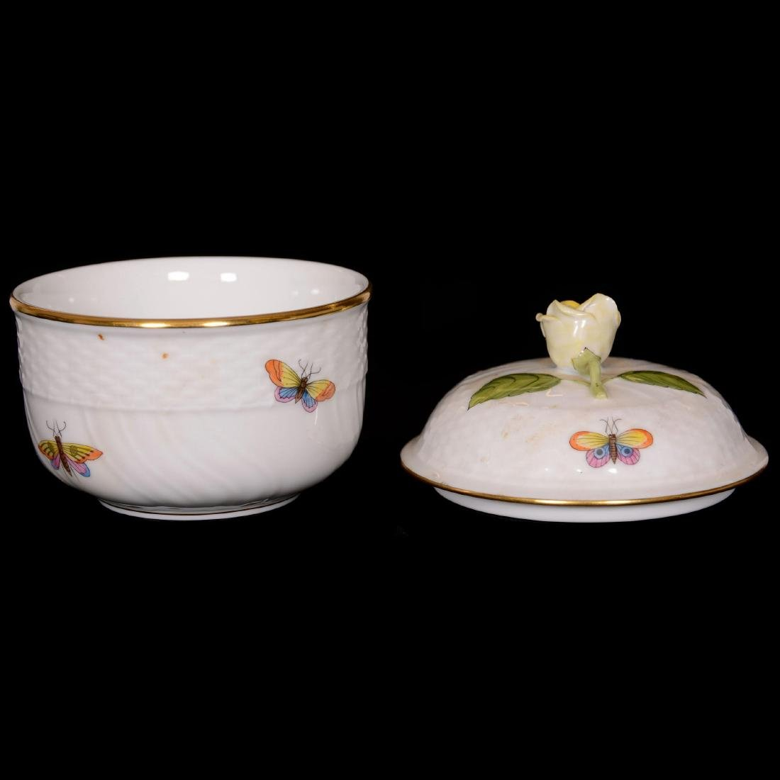 (6) Herend Hungary Porcelain Hand Painted Items - 5