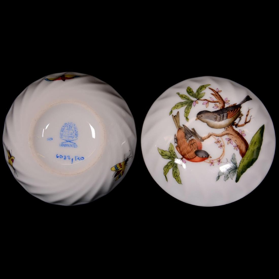 (4) Herend Hungary Porcelain Hand Painted Items - 2