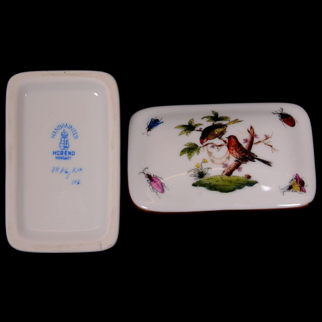 (4) Herend Hungary Porcelain Hand Painted Items - 3