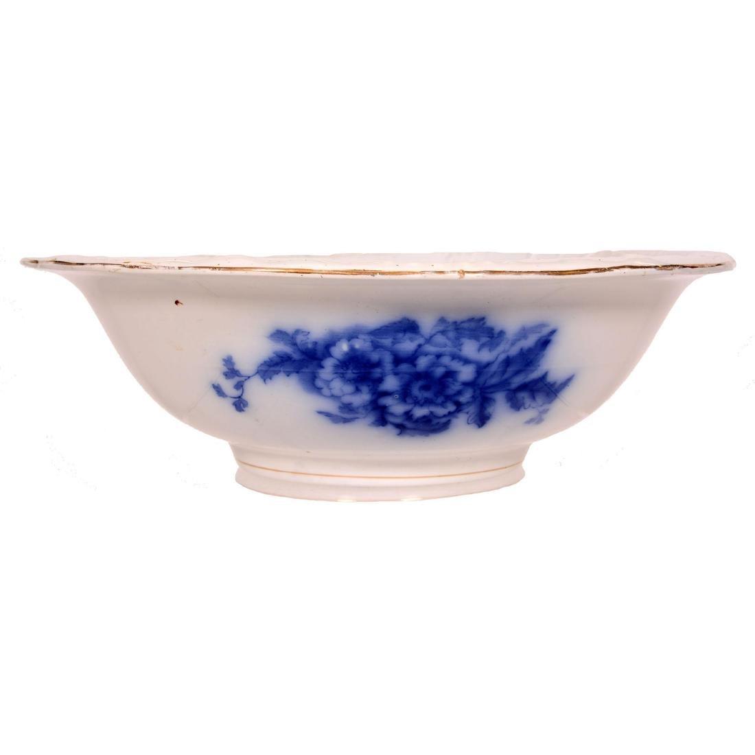 Flow Blue Pitcher and Bowl Set - 4