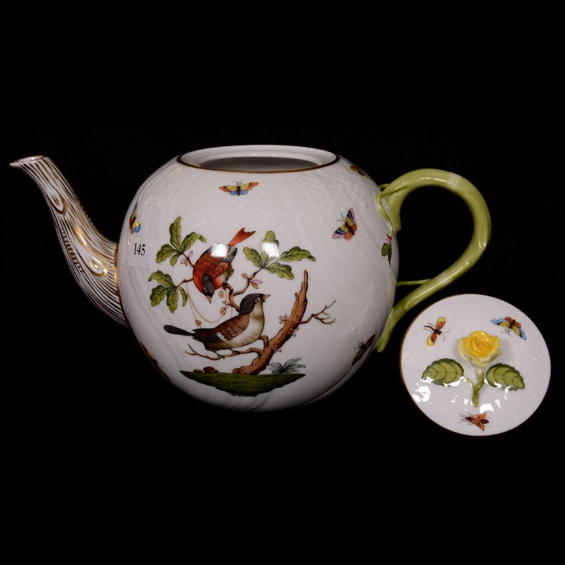 Herend Hungary Porcelain Hand Painted Seventeen Piece T - 2