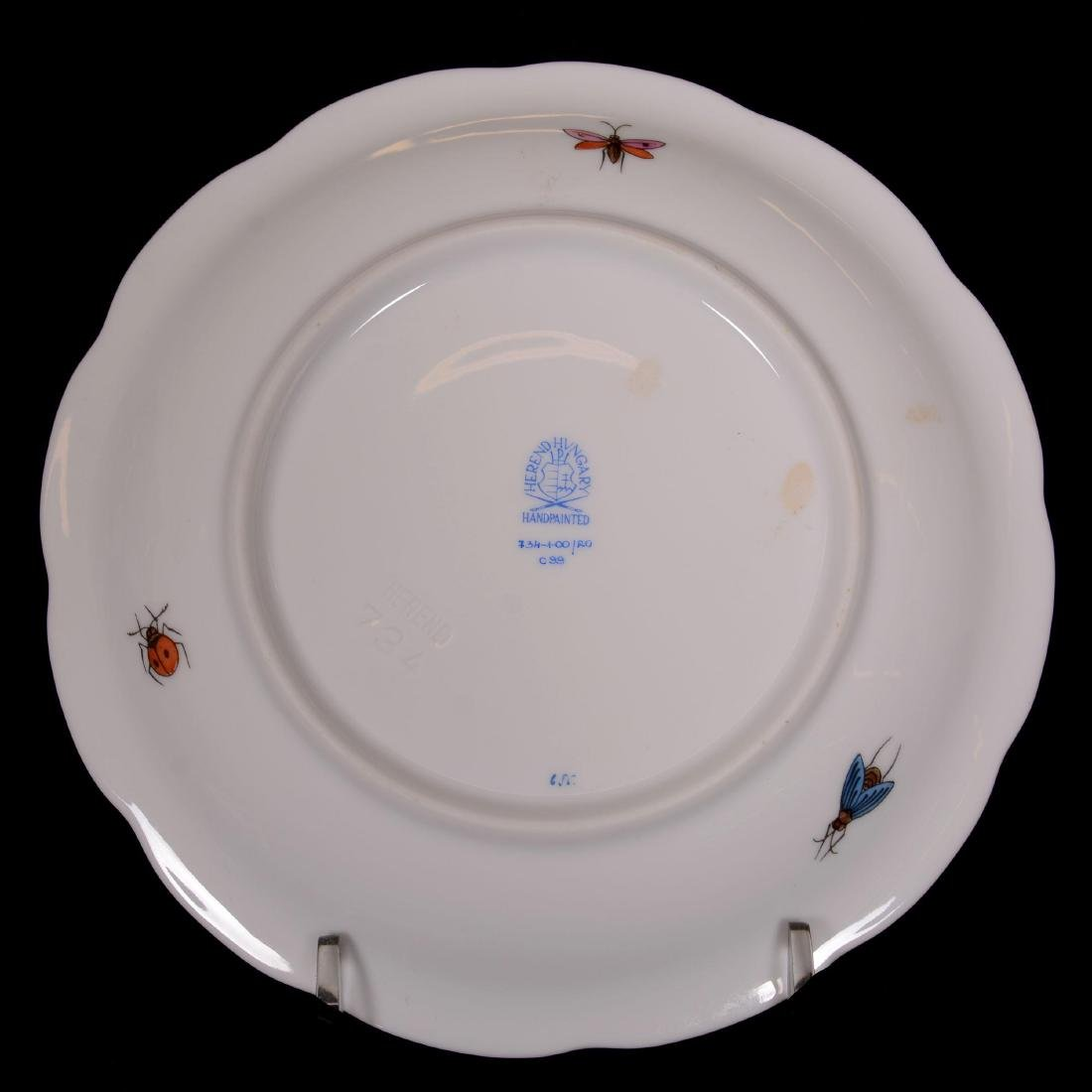 Herend Hungary Porcelain Hand Painted Seventeen Piece T - 3