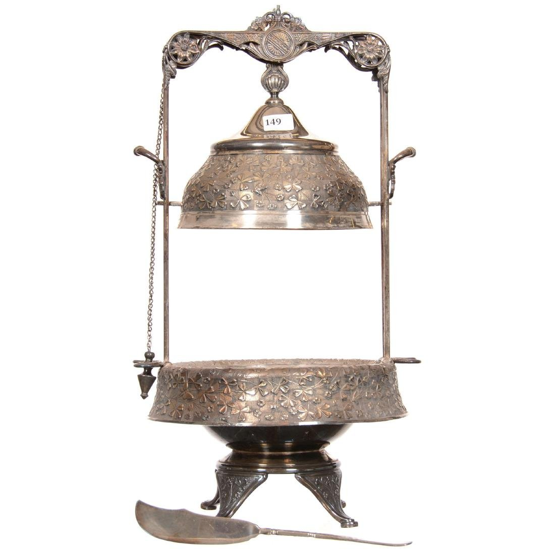 Victorian Mechanical Covered Butterdish