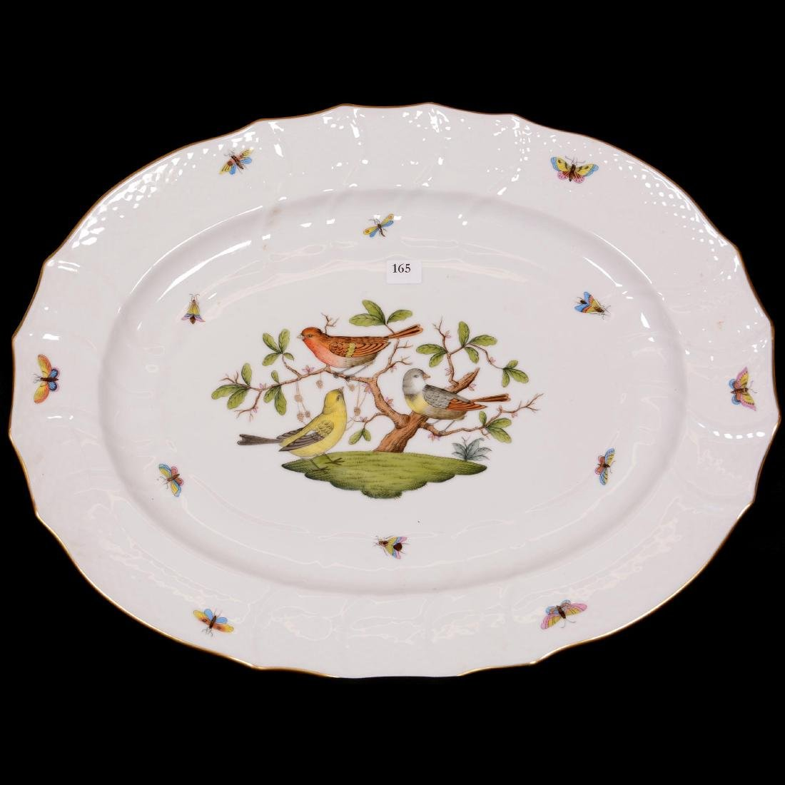 (2) Herend Hungary Porcelain Hand Painted Platters - 2
