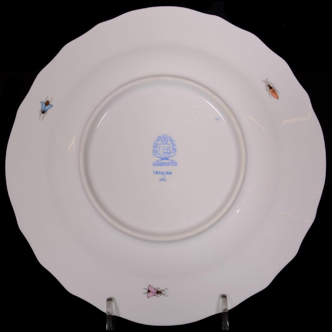 (15) Herend Hungary Porcelain Hand Painted Luncheon Pla - 2