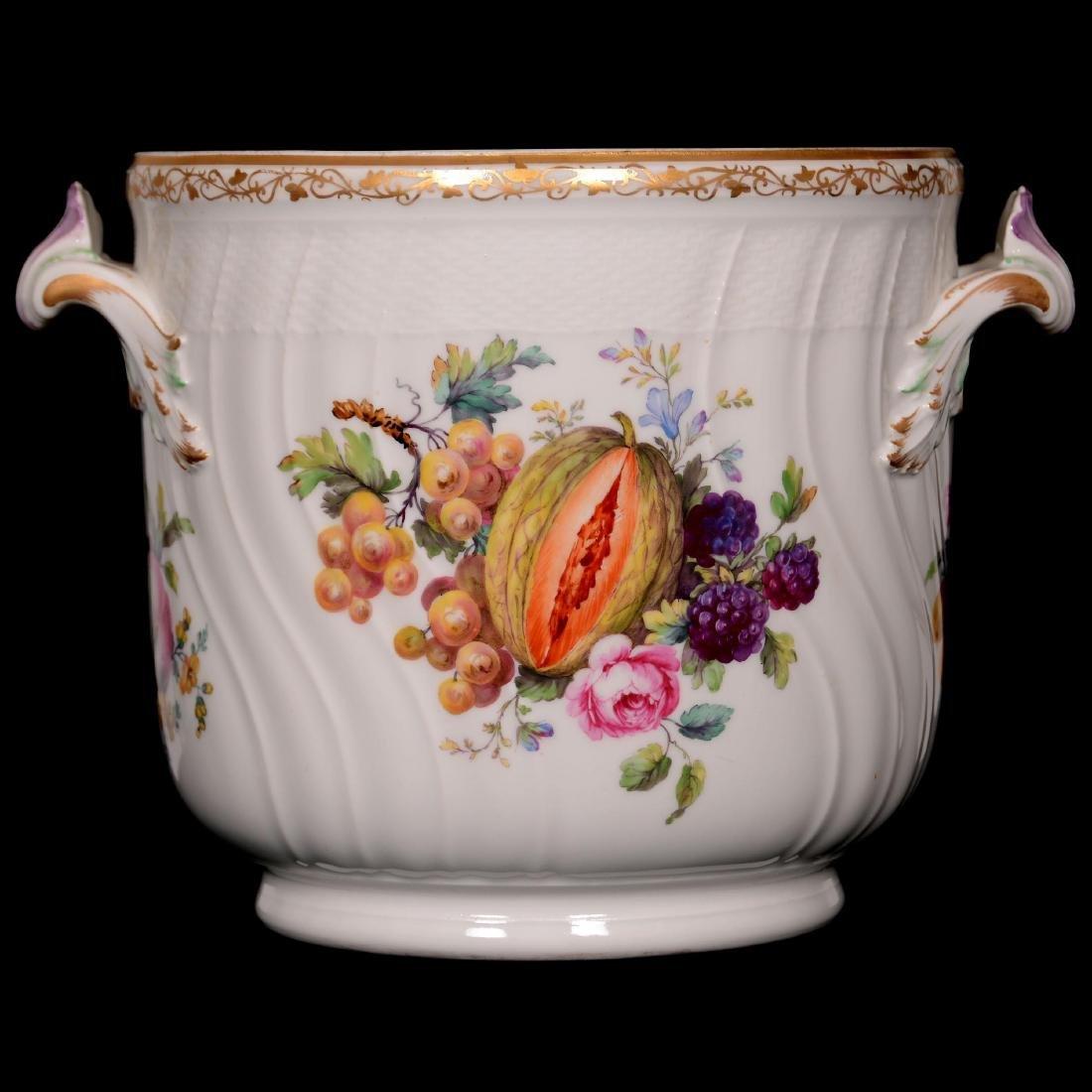 "Marked ""KPM"" Porcelain Hand Painted Two-Handled Jardini"
