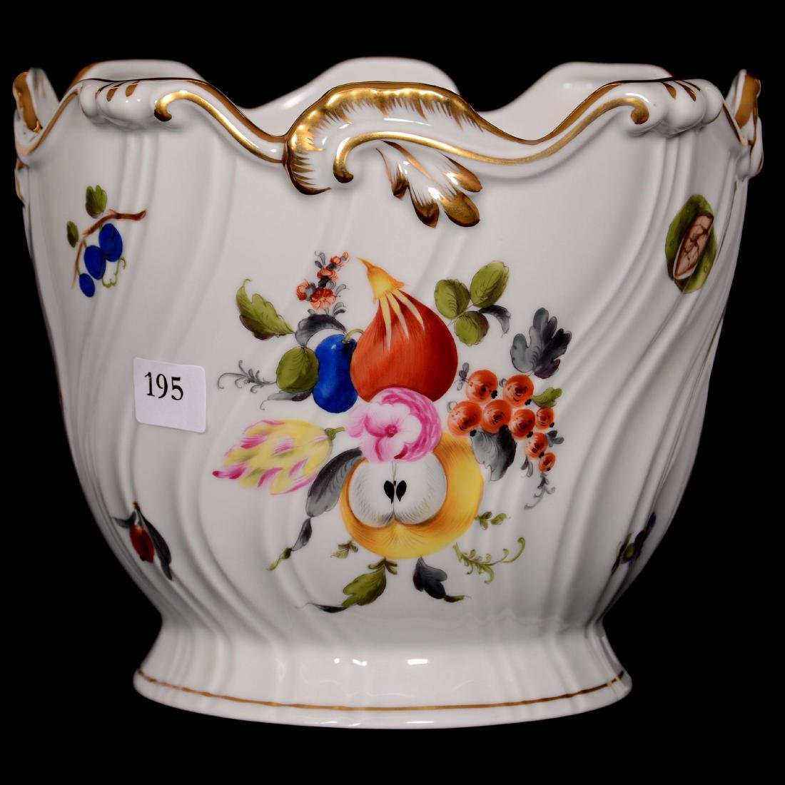 Herend Hungary Porcelain Hand Painted Jardiniere