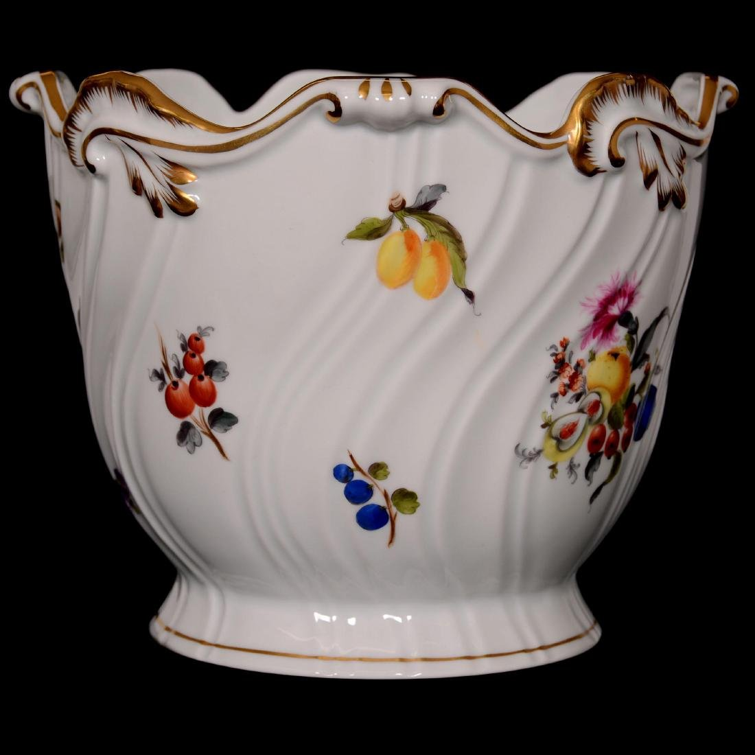 Herend Hungary Porcelain Hand Painted Jardiniere - 2