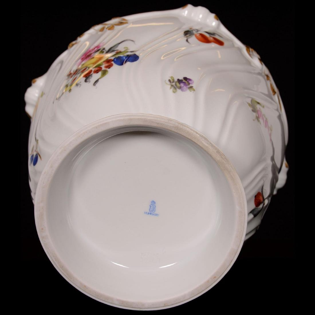 Herend Hungary Porcelain Hand Painted Jardiniere - 3