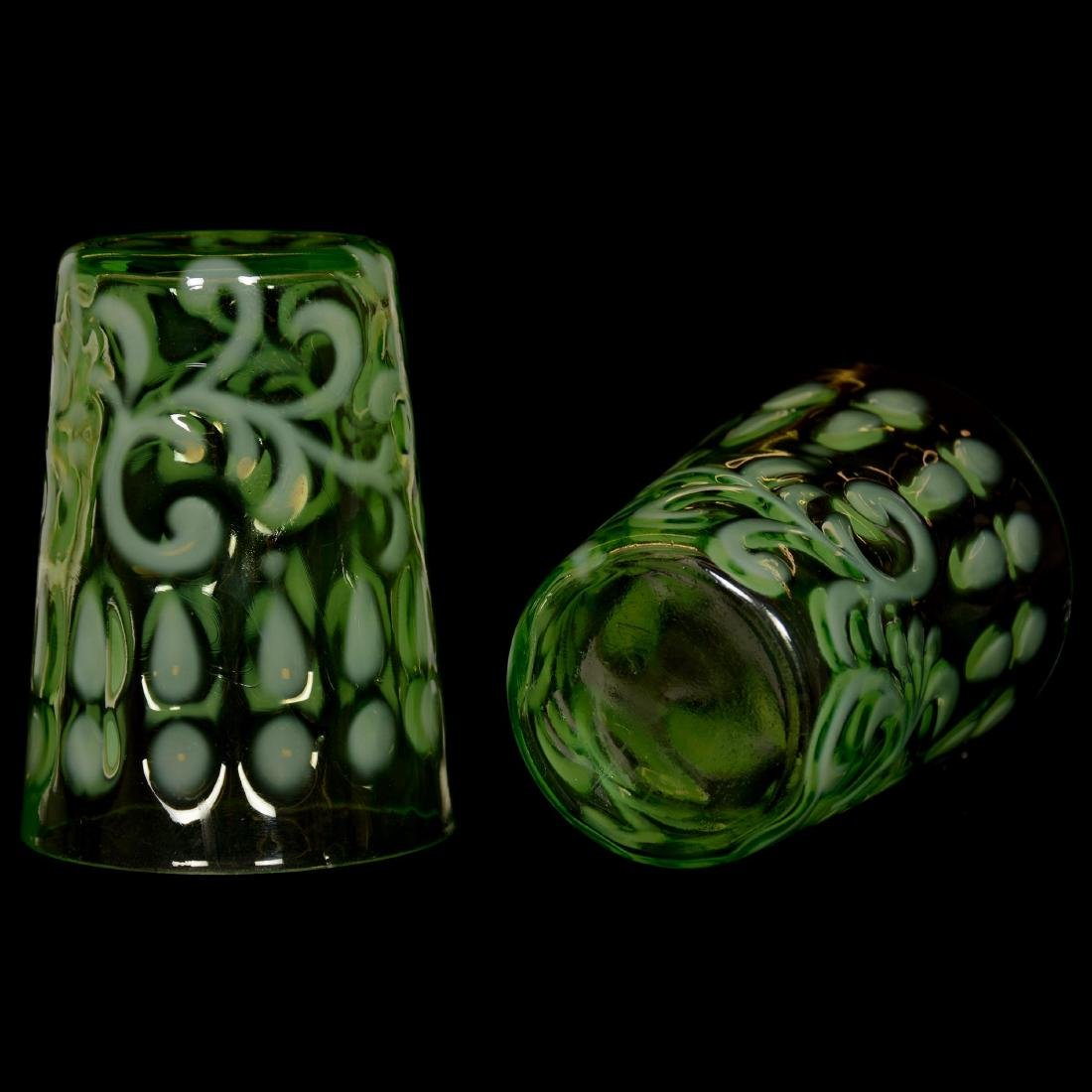 EAPG Green Opalescent Water Set - 5
