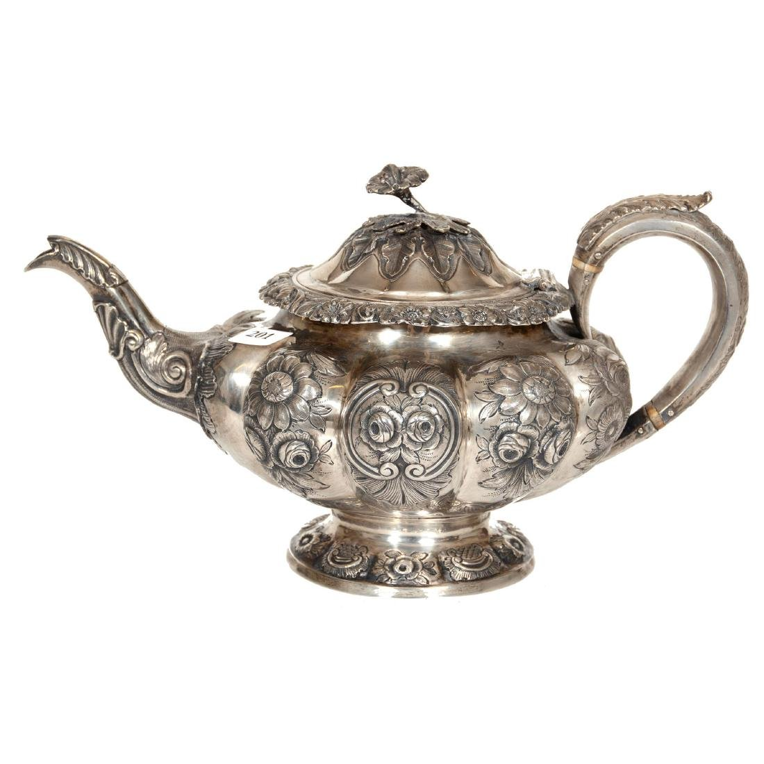 English Sterling Silver Teapot - 3