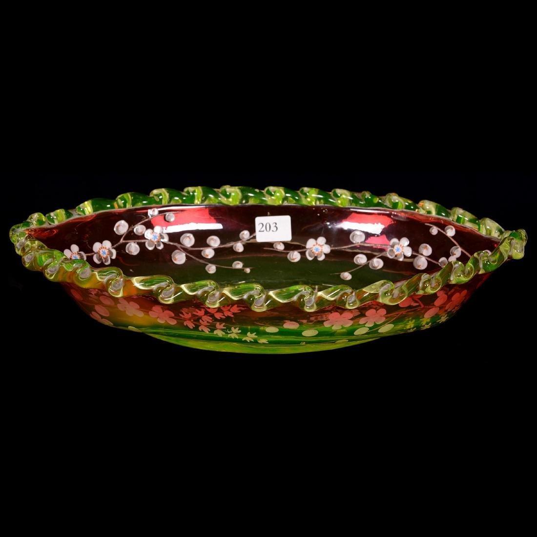 Art Glass Celery Tray - 2