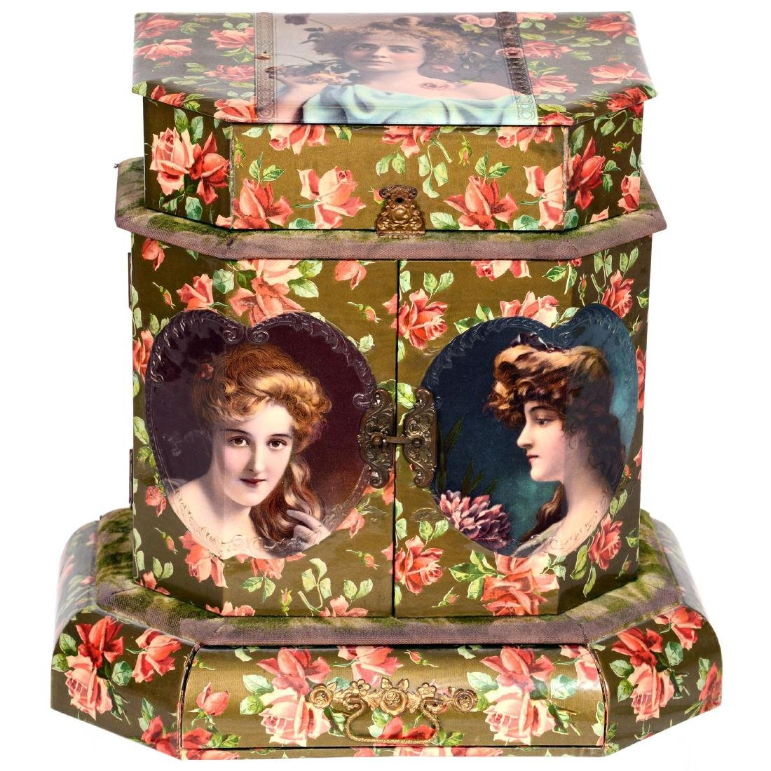Large Victorian Celluloid Vanity Box