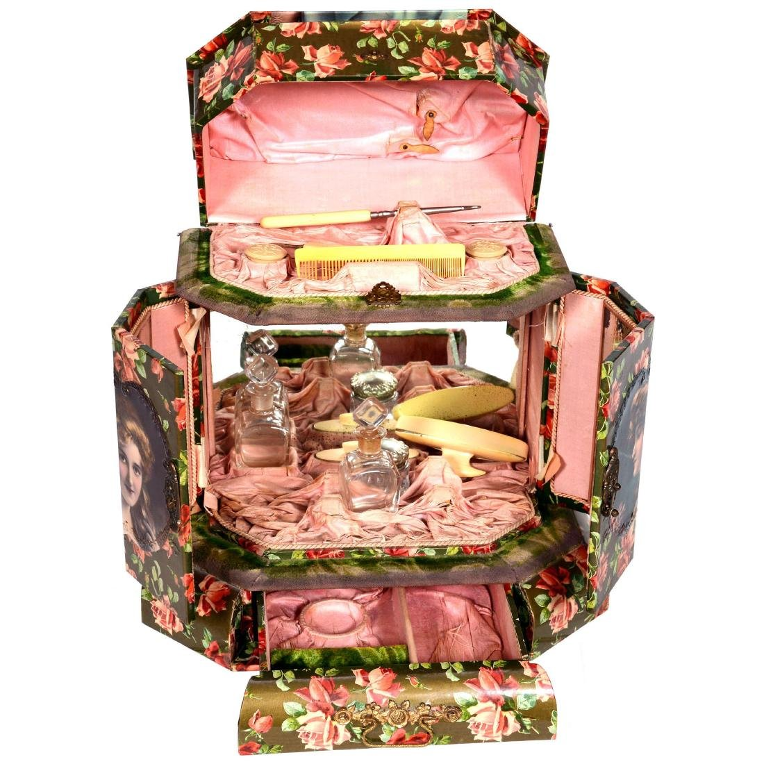 Large Victorian Celluloid Vanity Box - 2