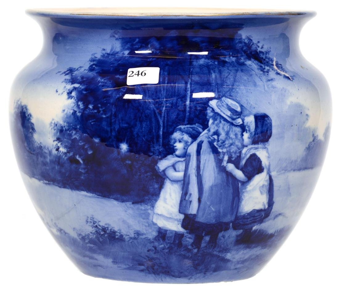 Royal Doulton Flow Blue Jardiniere
