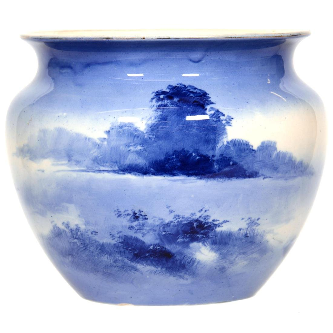 Royal Doulton Flow Blue Jardiniere - 2