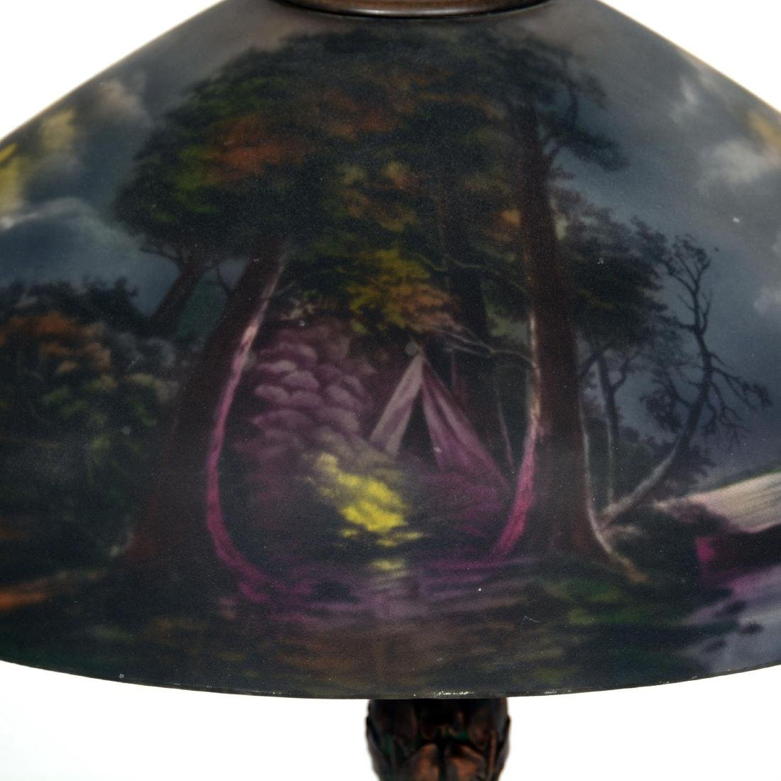 Table Lamp with Reverse Painted Shade - 2