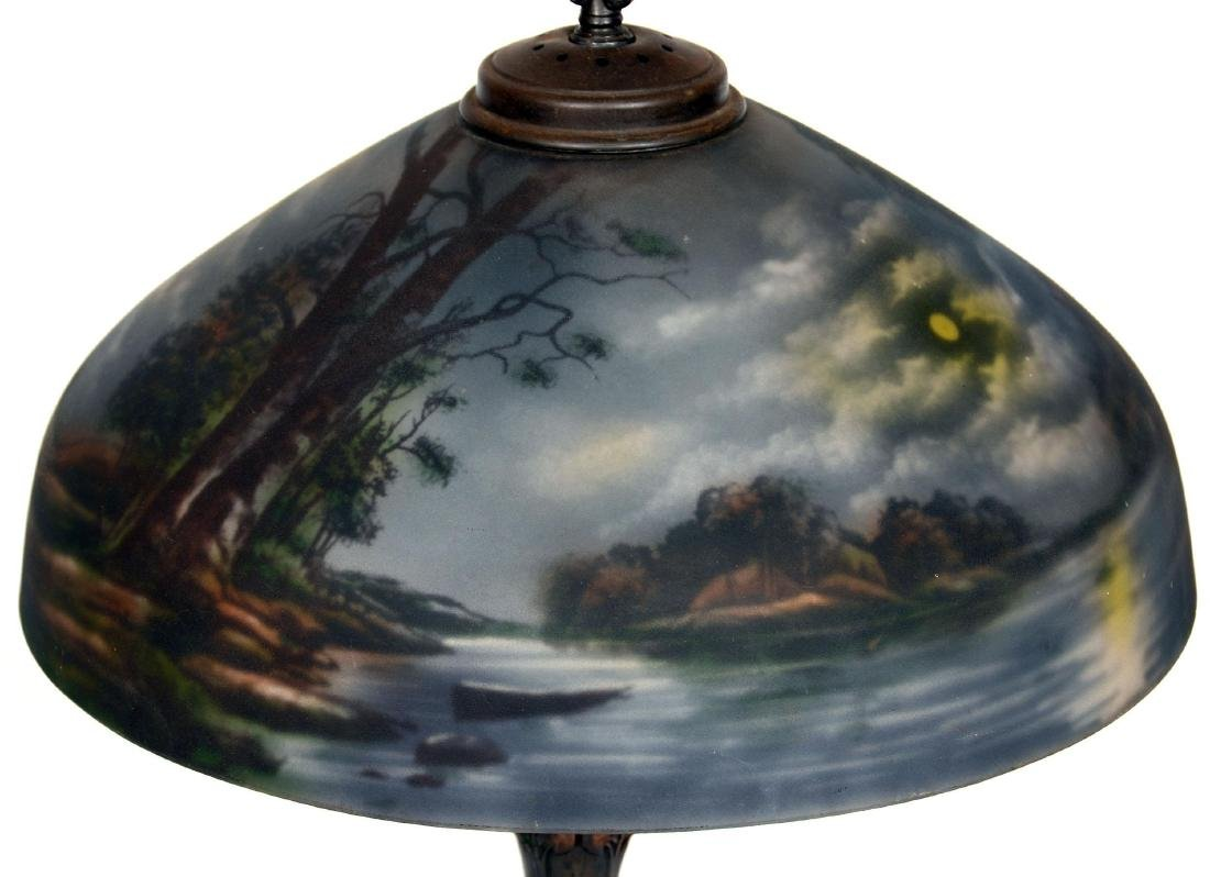 Table Lamp with Reverse Painted Shade - 3