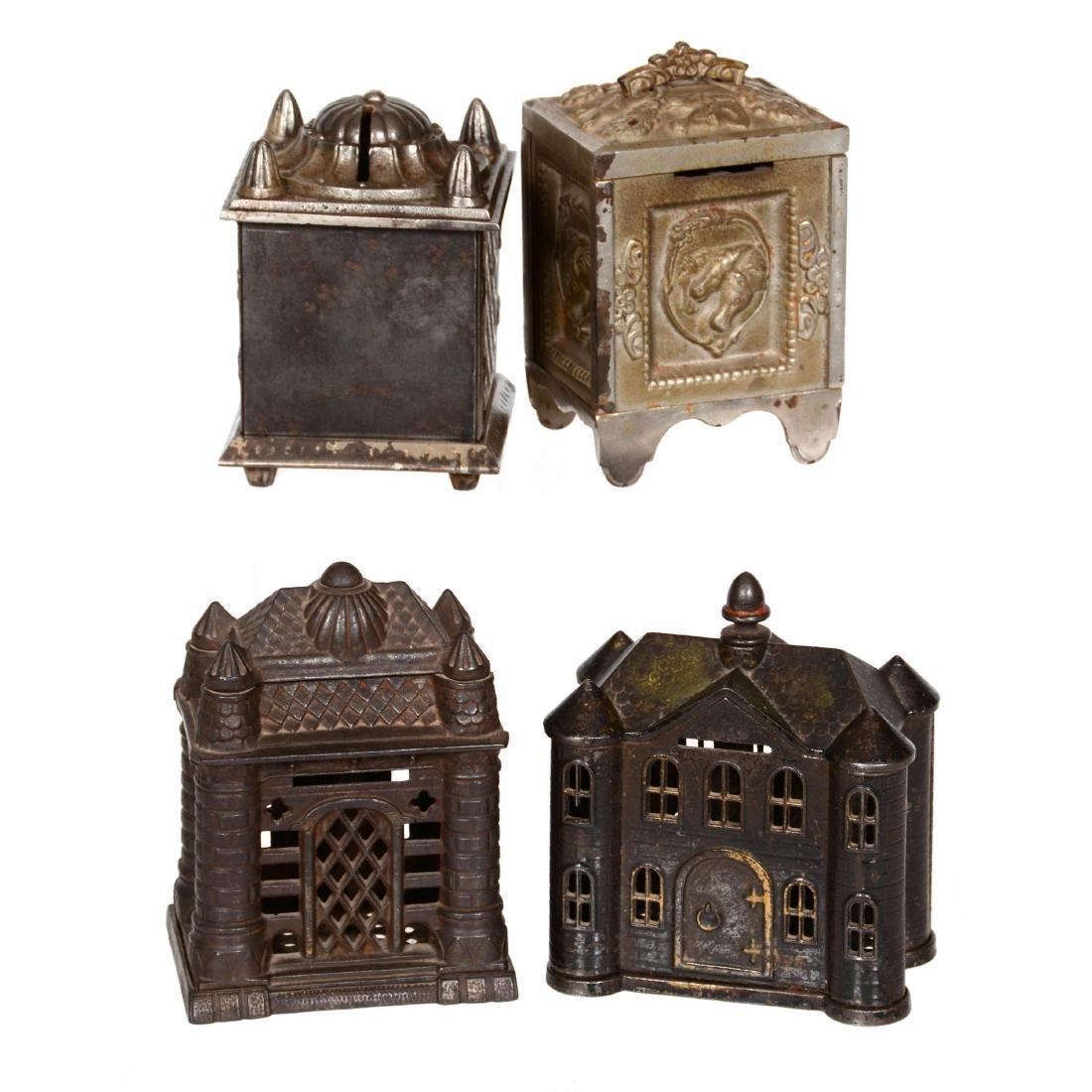 (4) Cast Iron Figural Banks - 2