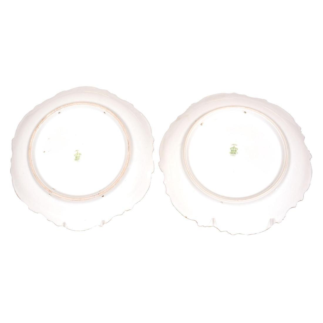 (2) Matching Coronet Limoges Plates - 3