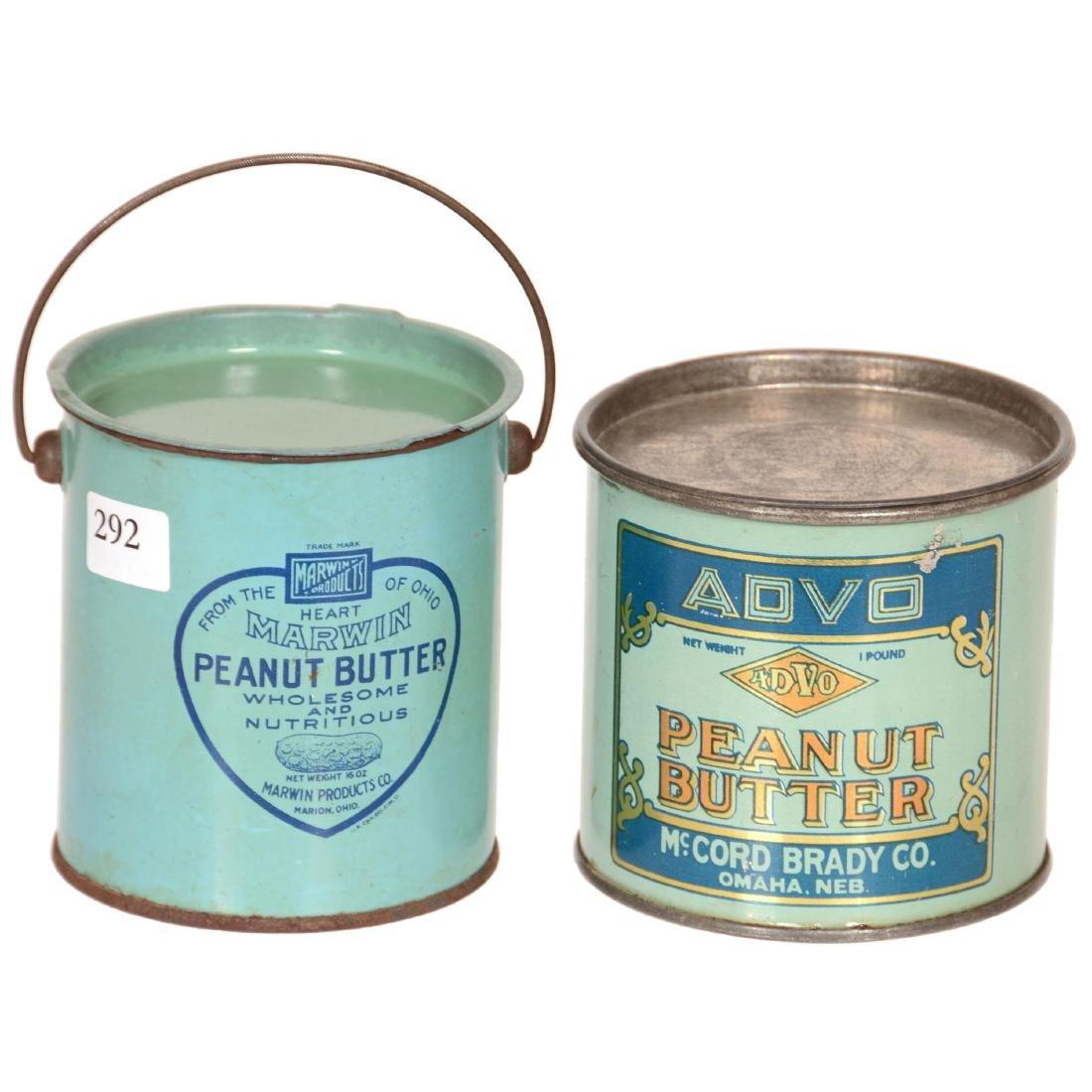 (2) Original Peanut Butter Advertising Tins