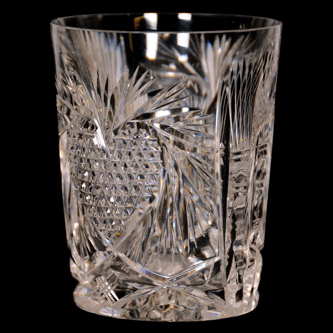 American Brilliant Cut Glass Water Set - 4