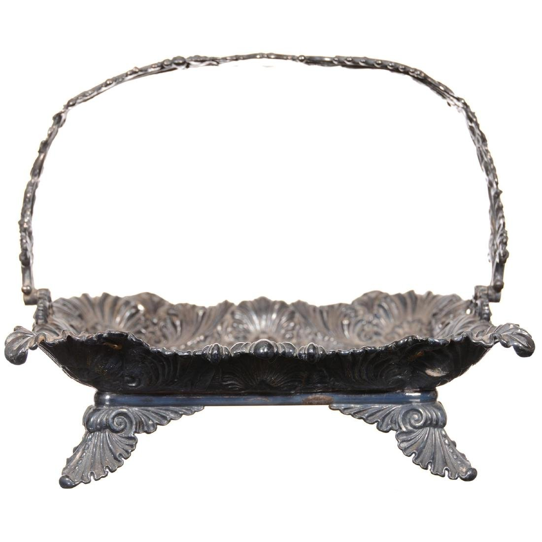 (2) Silverplate Square Shaped Stands - 2