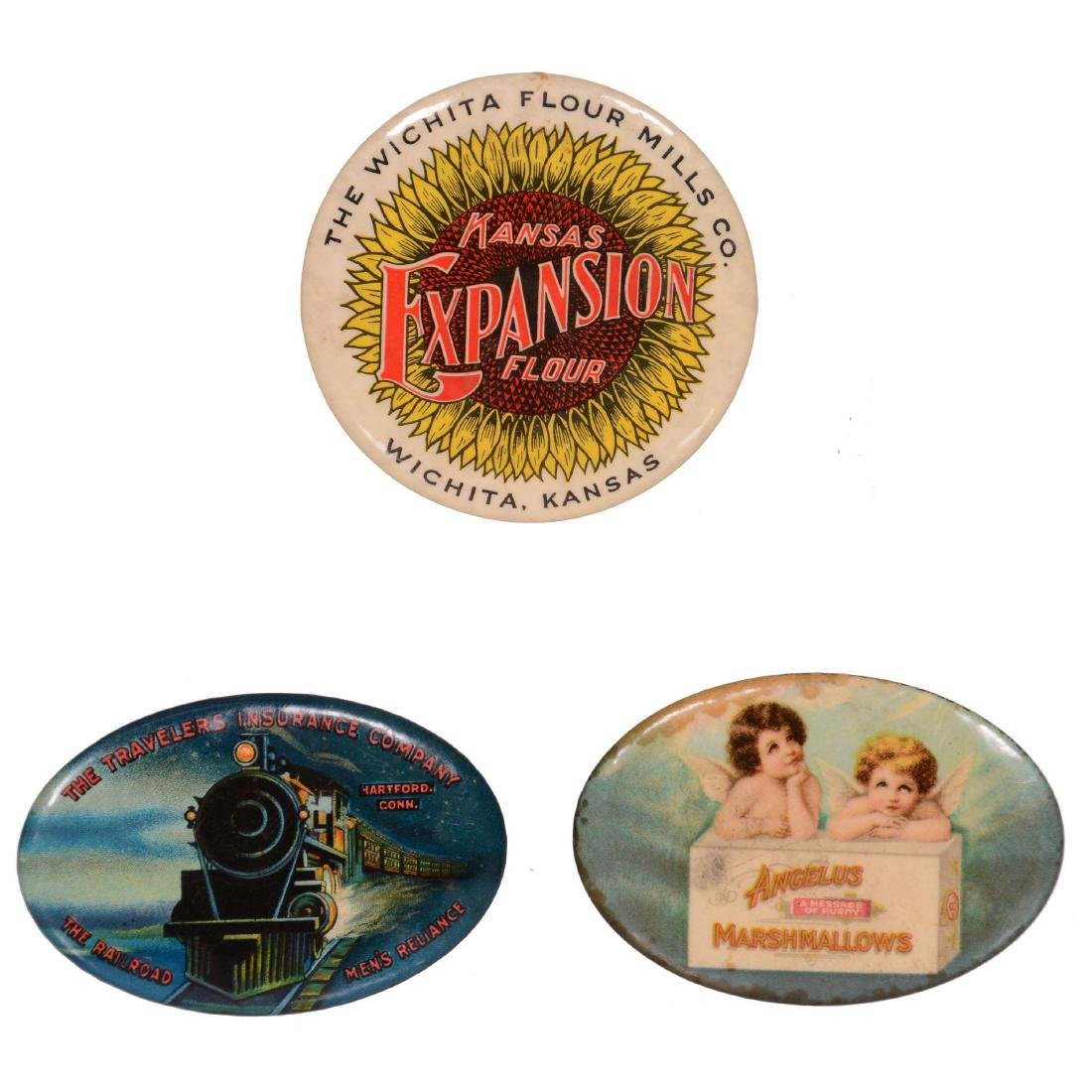 (3) Original Advertising Pocket Mirrors