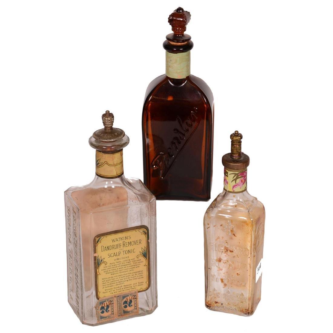 (3) Original Tonic Bottles with Original Paper Advertis - 2