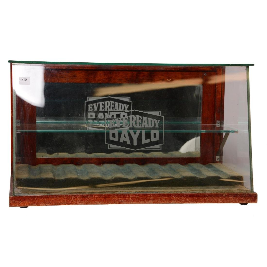 "Original Counter Top Display Case Advertising ""Eveready"
