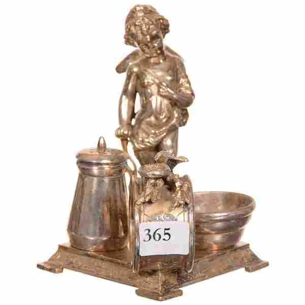 Victorian Figural Condiment Set