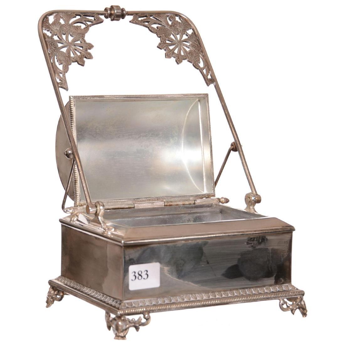 Victorian Mechanical Jewelry Casket