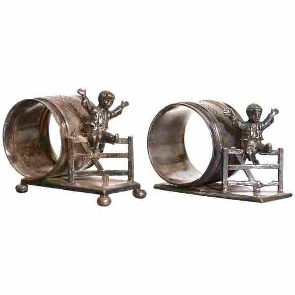 (2) Victorian Figural Napkin Rings