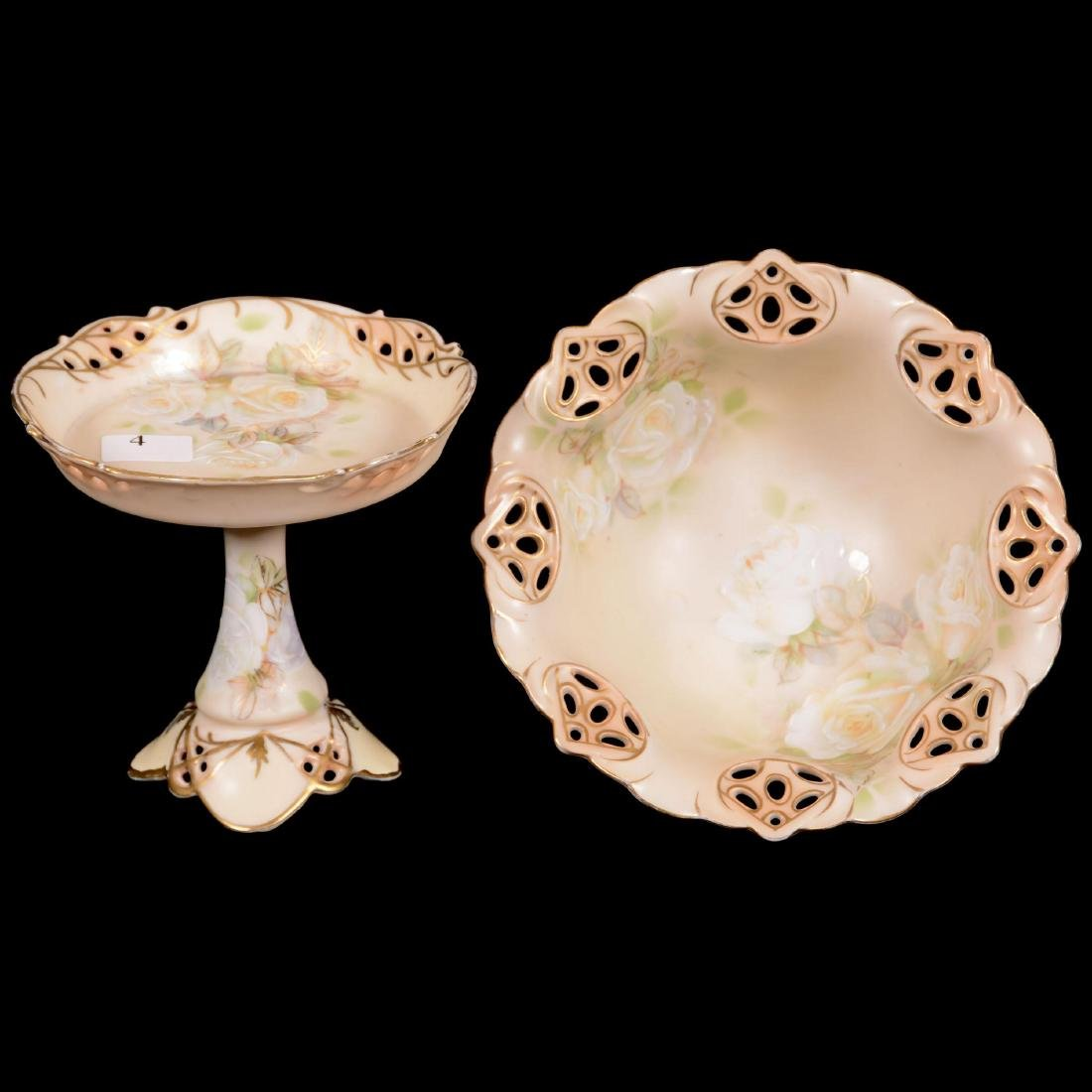 (2) Royal Bayreuth Old Ivory Pattern Items