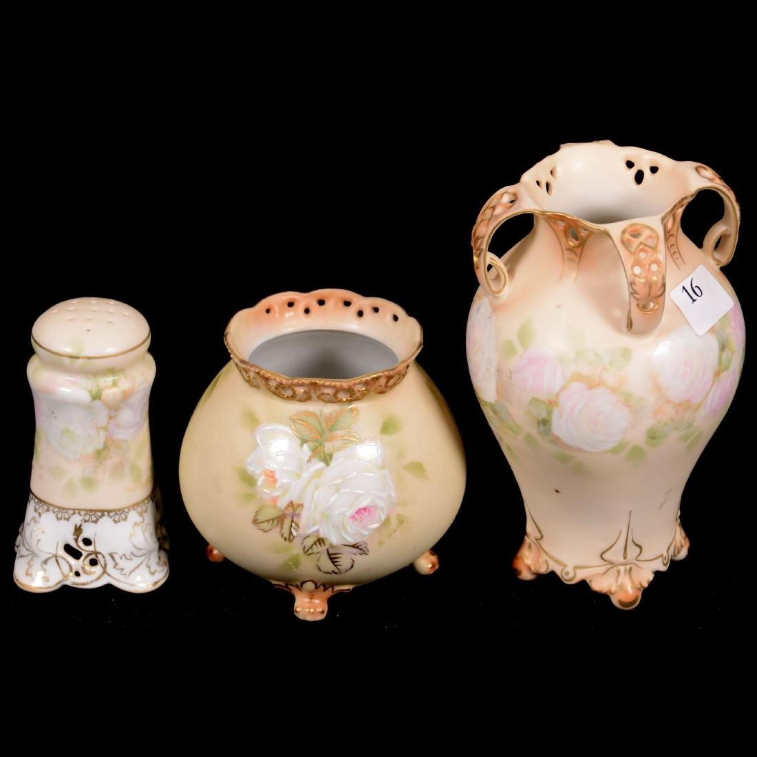 (3) Royal Bayreuth Old Ivory Pattern Items