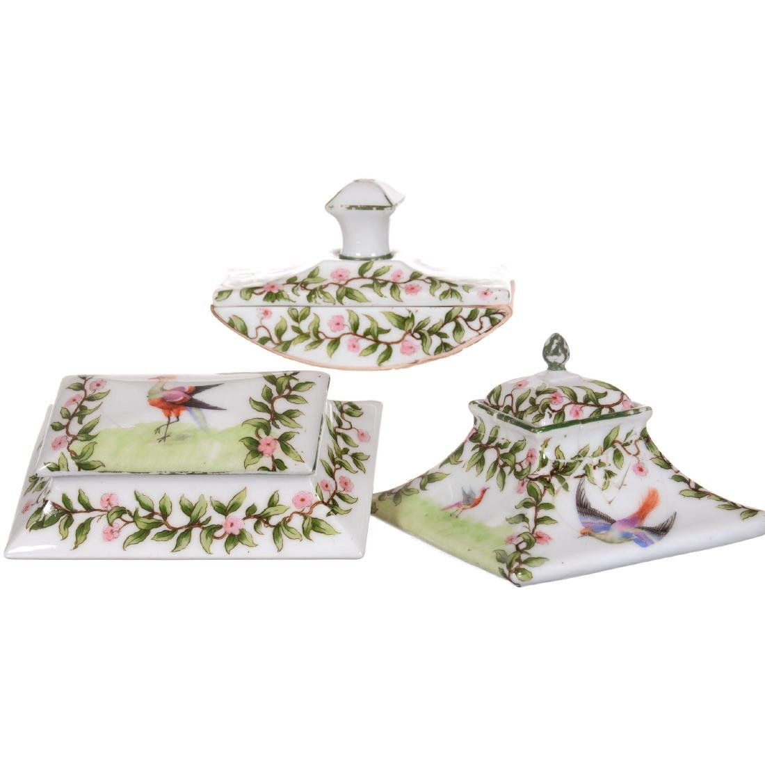 (3) Royal Bayreuth Desk Set Items