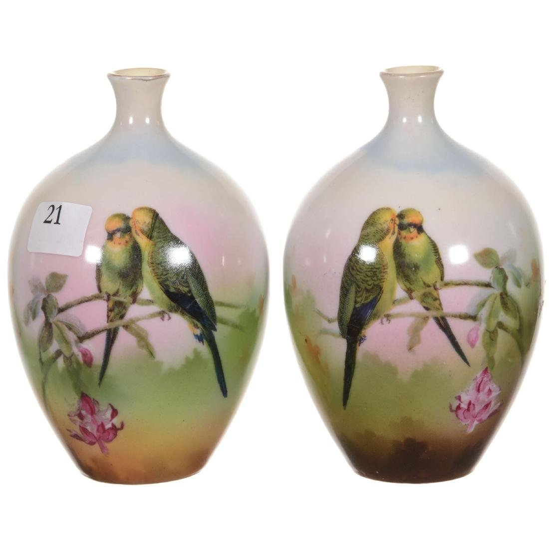 Royal Bayreuth Pair of Matching Vases