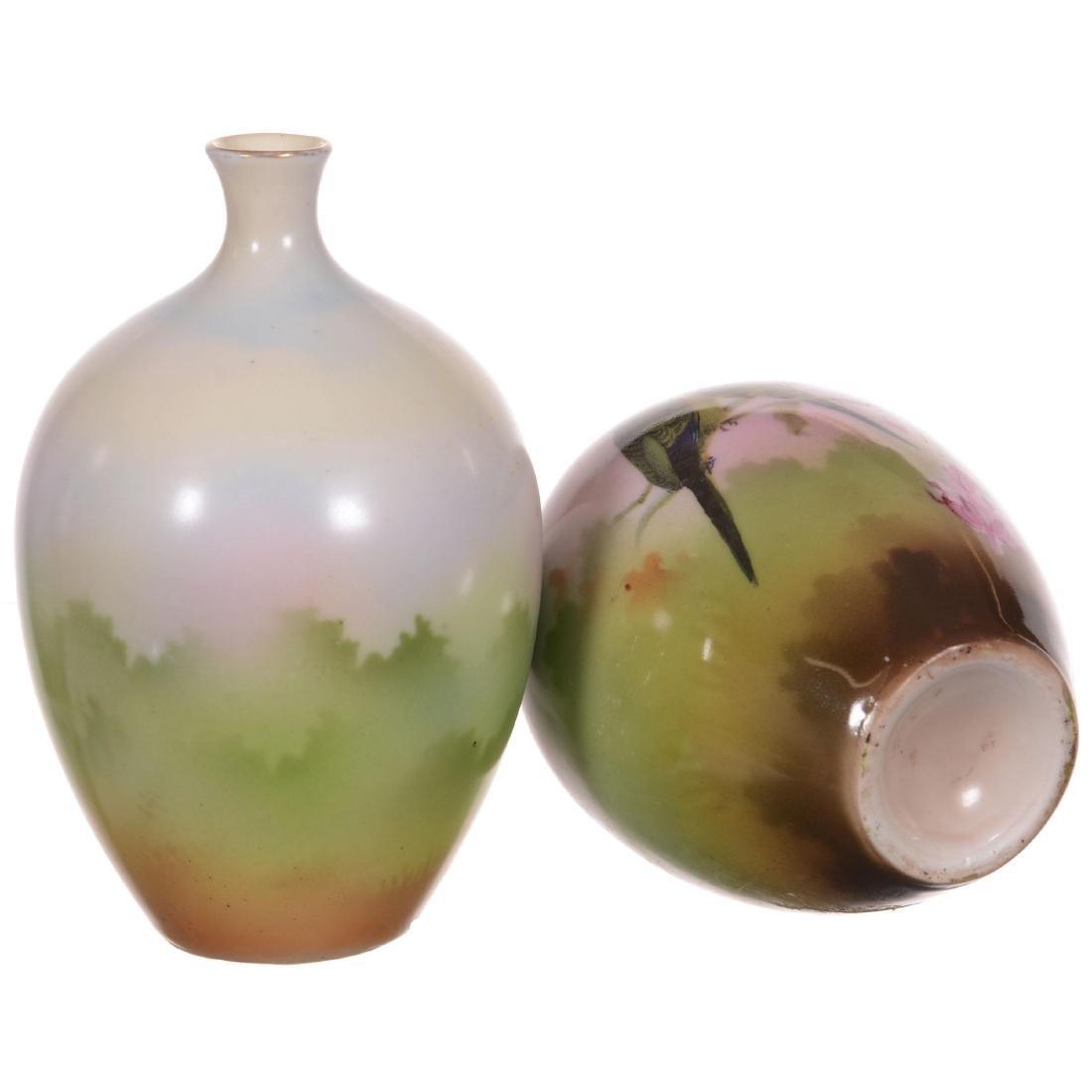 Royal Bayreuth Pair of Matching Vases - 2