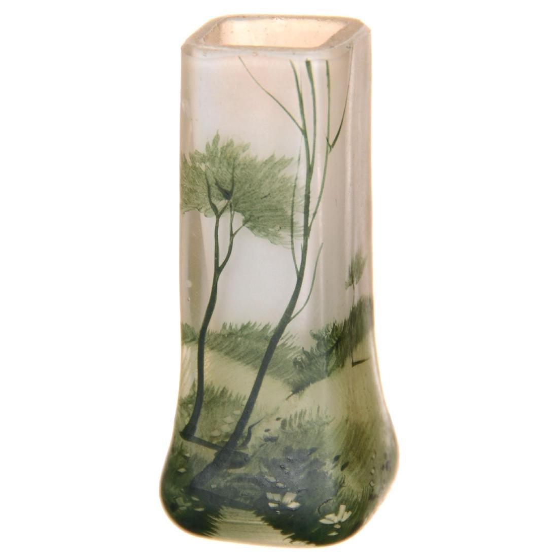 Scenic Art Glass Miniature Vase