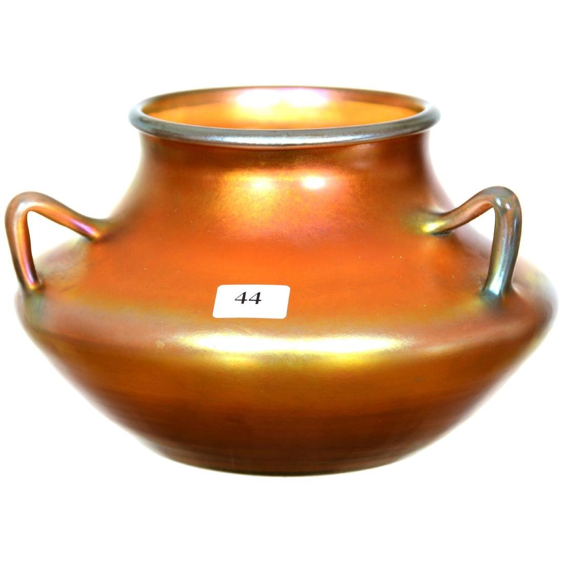 Steuben Art Glass Three-Handled Vase