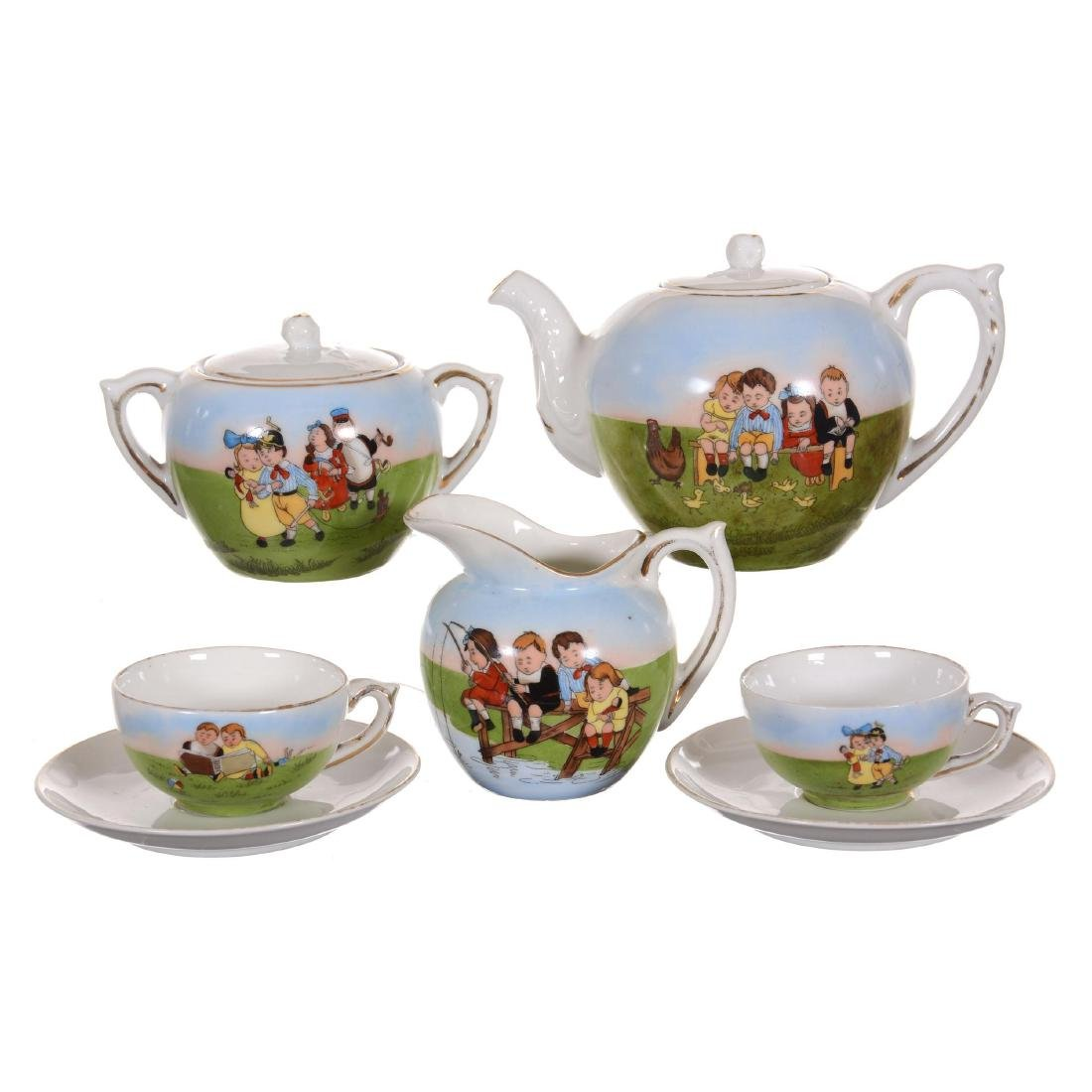 Seven Piece Child's Tea Set - Unmarked Germany