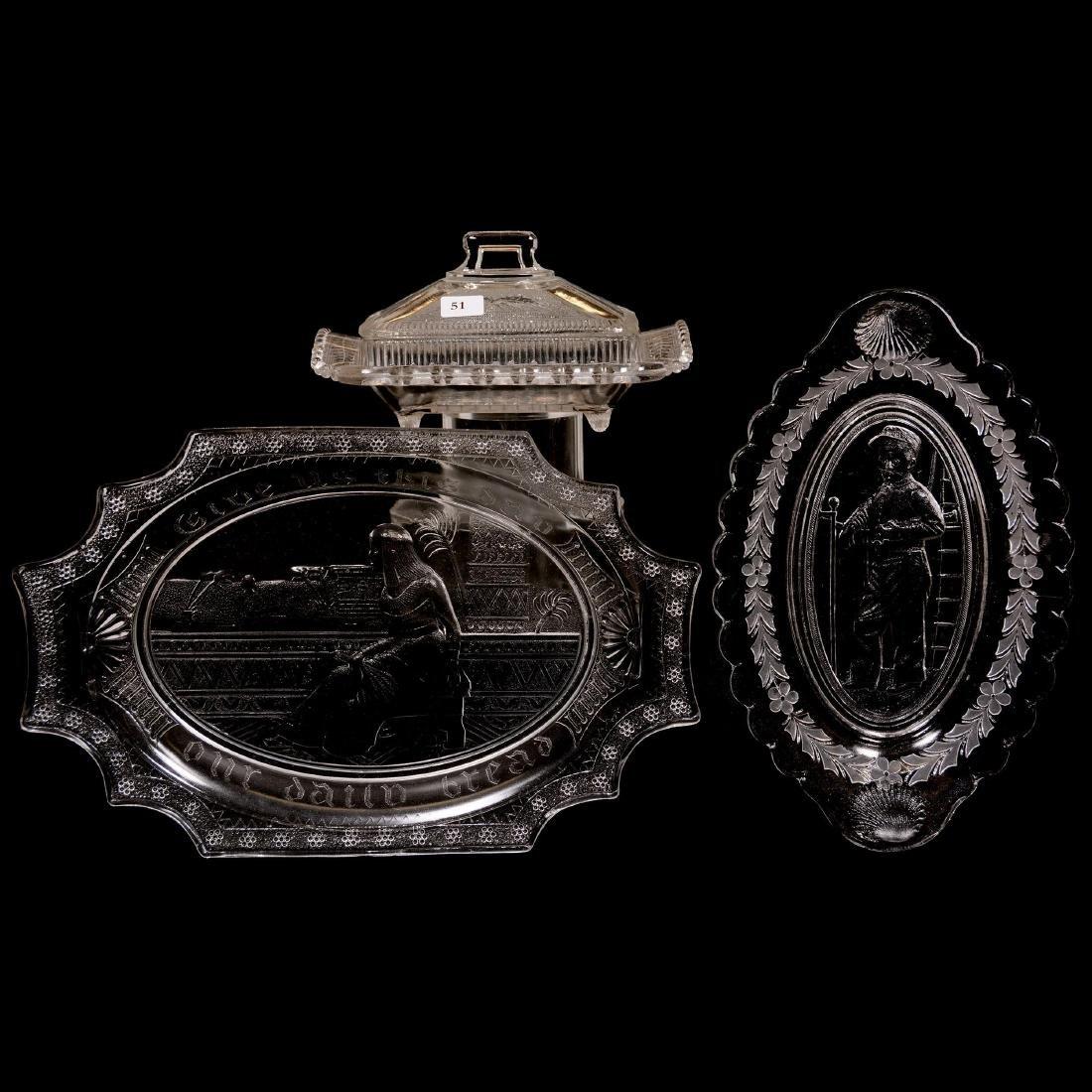 (3) Pattern Glass Items