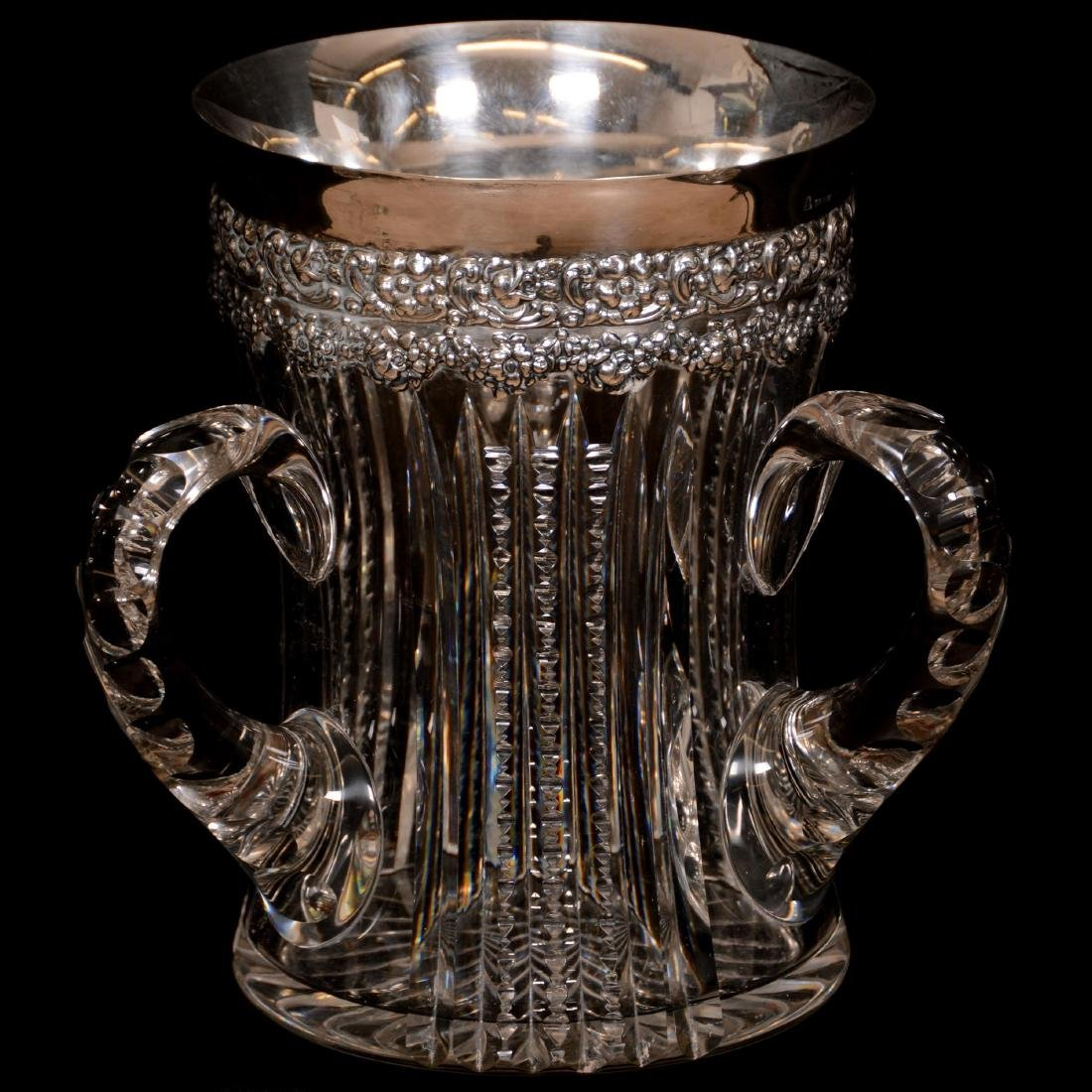 American Brilliant Period Cut Glass Loving Cup