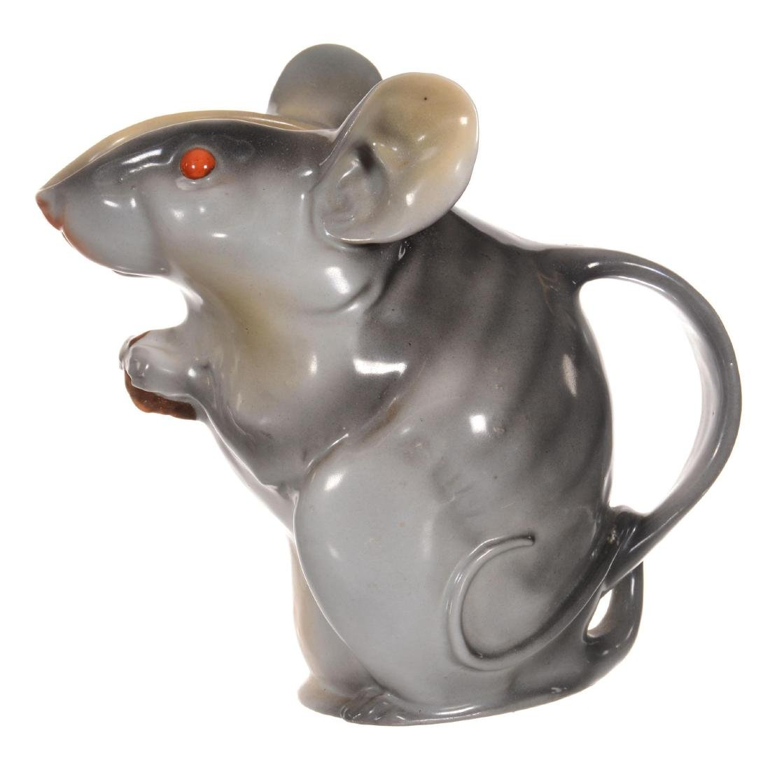 Royal Bayreuth Mouse Water Pitcher