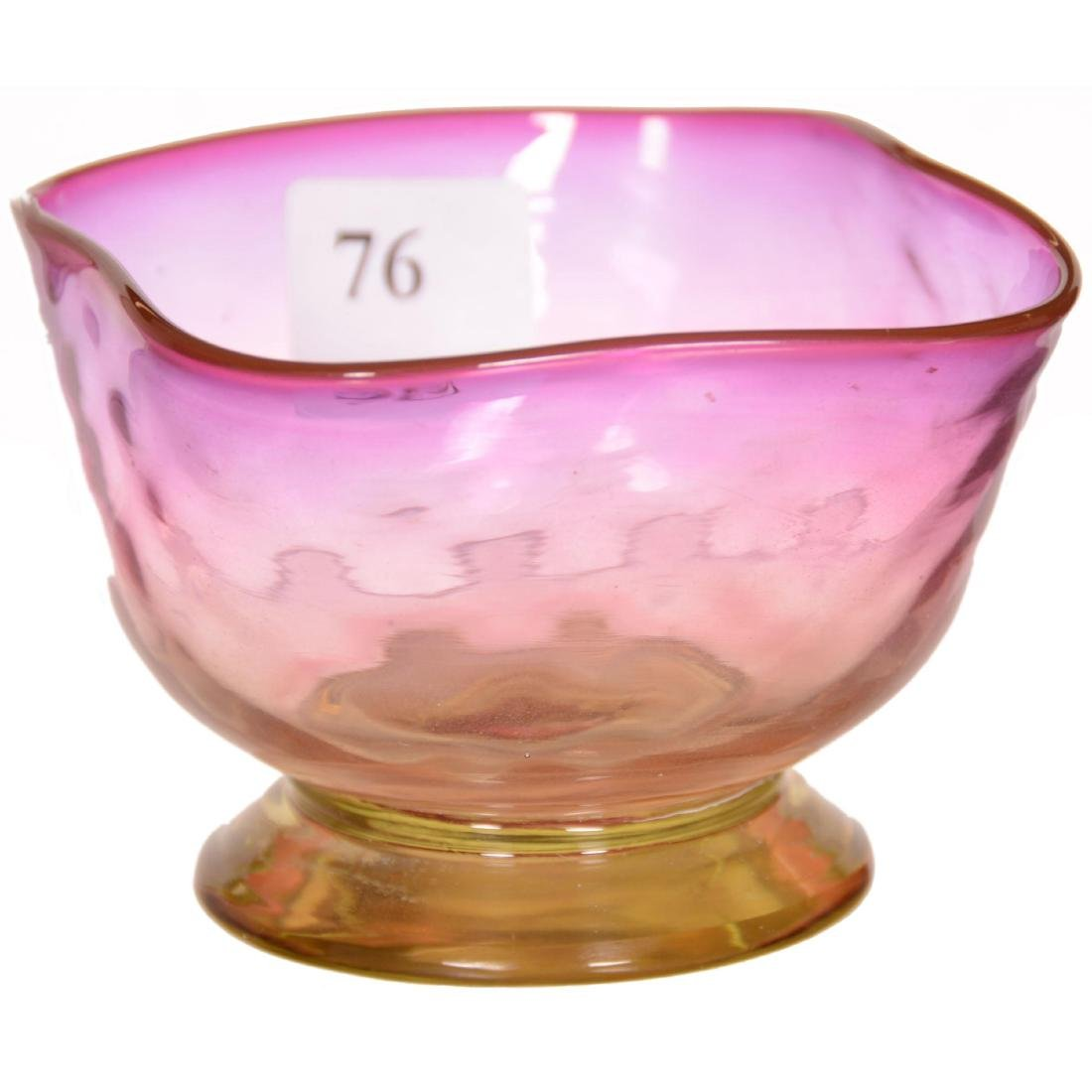 Alexandrite Art Glass Footed Bowl