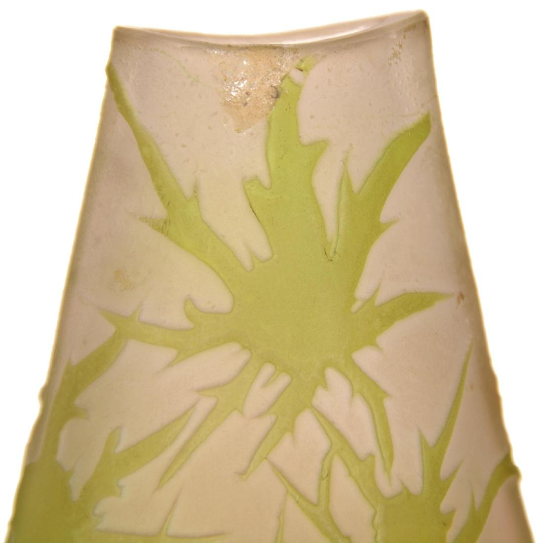 French Cameo Art Glass Vase - 3