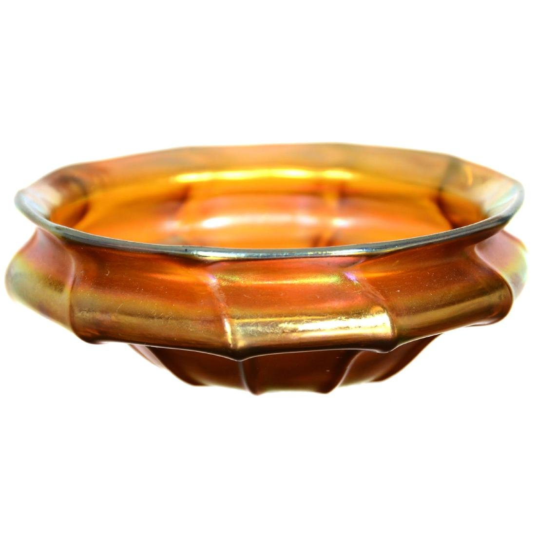 Quezal Art Glass Bowl
