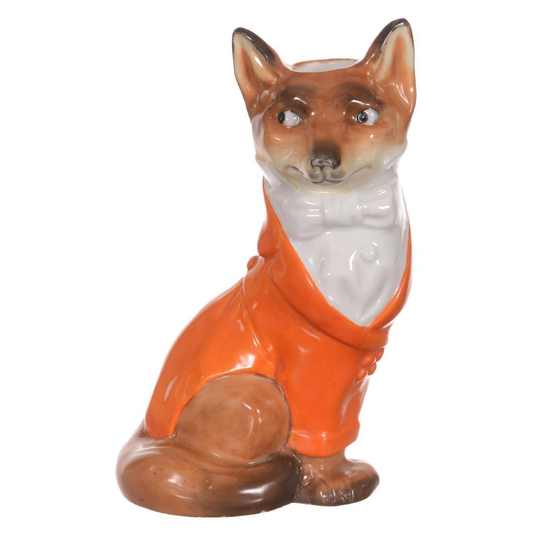 Royal Bayreuth Fox Candlestick Holder