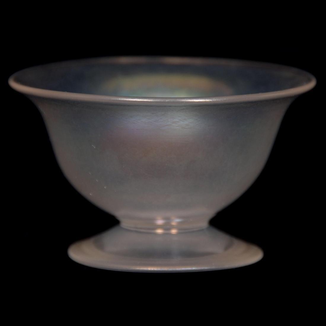 Art Glass Pedestal Salt Dip