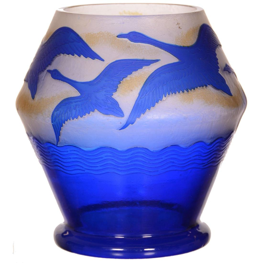 Cameo Art Glass Vase